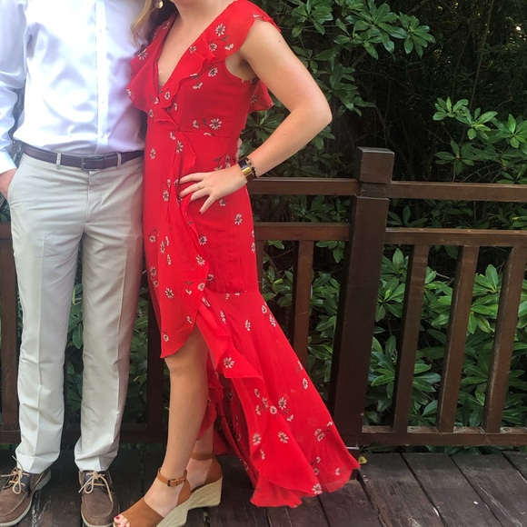 Lulu's Dresses & Skirts - Red fit and flare Dress